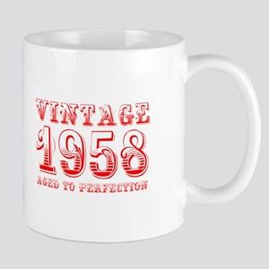 VINTAGE 1958 aged to perfection-red 400 Mugs