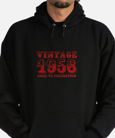 VINTAGE 1958 aged to perfection-red 400 Hoodie