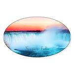 Niagara Falls Sticker (Oval 10 pk)