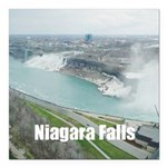 "Niagara Falls Square Car Magnet 3"" x 3"""