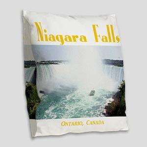 Niagara Falls Burlap Throw Pillow