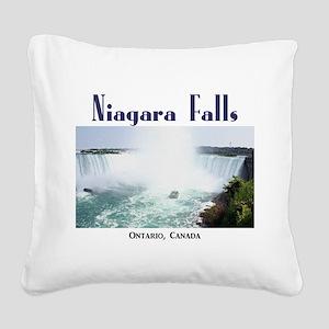 Niagara Falls Square Canvas Pillow