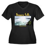Niagara Fall Women's Plus Size V-Neck Dark T-Shirt