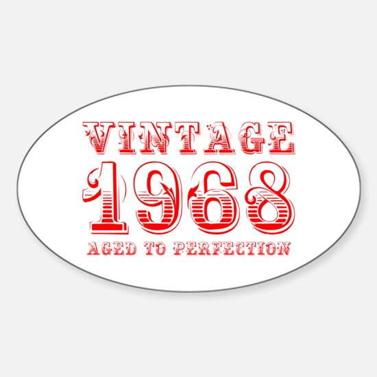 VINTAGE 1968 aged to perfection-red 400 Decal