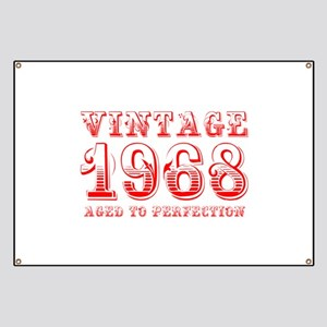 VINTAGE 1968 aged to perfection-red 400 Banner