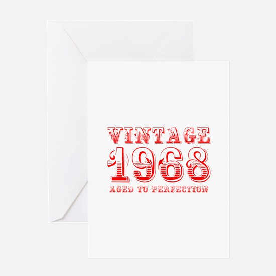 VINTAGE 1968 aged to perfection-red 400 Greeting C