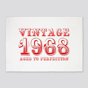 VINTAGE 1968 aged to perfection-red 400 5'x7'Area