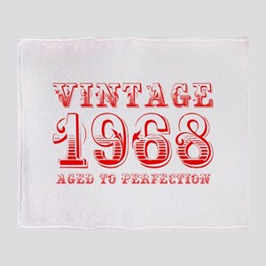 VINTAGE 1968 aged to perfection-red 400 Throw Blan