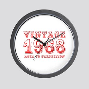 VINTAGE 1968 aged to perfection-red 400 Wall Clock