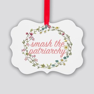 Smash the Patriarchy Picture Ornament