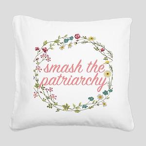 Smash the Patriarchy Square Canvas Pillow