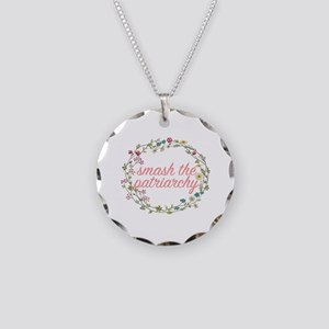 Smash the Patriarchy Necklace Circle Charm