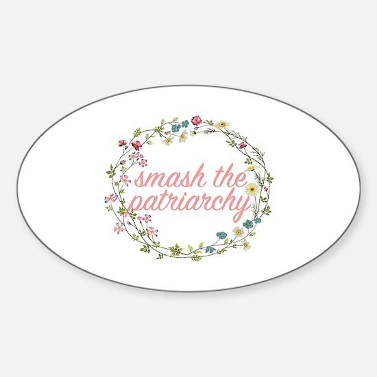 Smash the Patriarchy Sticker (Oval)