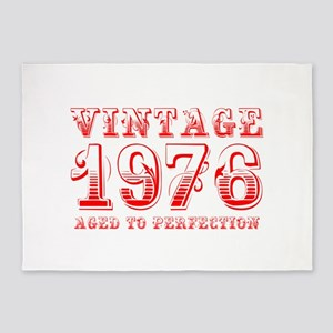 VINTAGE 1976 aged to perfection-red 400 5'x7'Area