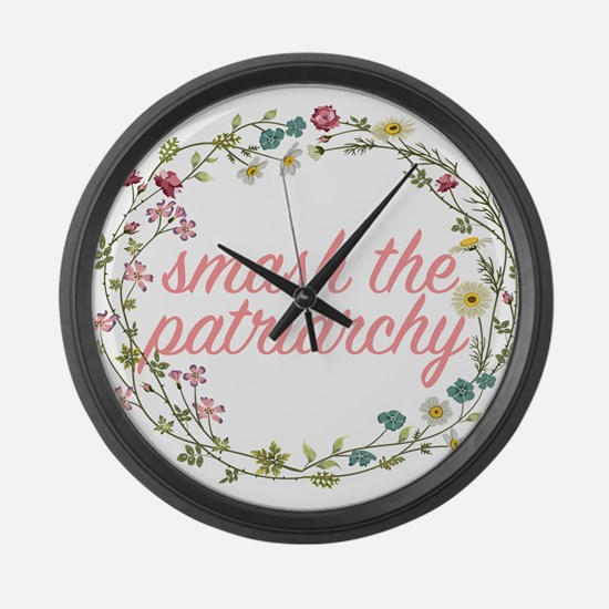 Smash the Patriarchy Large Wall Clock