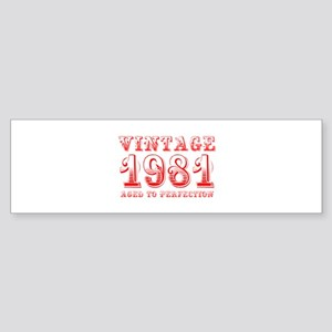 VINTAGE 1981 aged to perfection-red 400 Bumper Sti