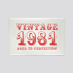 VINTAGE 1981 aged to perfection-red 400 Magnets