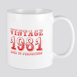 VINTAGE 1981 aged to perfection-red 400 Mugs
