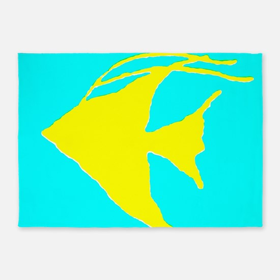 Angel Fish 5'x7'Area Rug