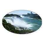 Niagara Falls Sticker (Oval 50 pk)