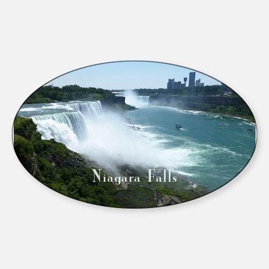 Niagara Falls Sticker (Oval)