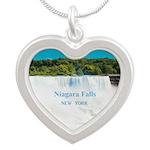 Niagara Falls Silver Heart Necklace