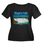 Niagara Women's Plus Size Scoop Neck Dark T-Shirt