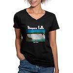 Niagara Falls Women's V-Neck Dark T-Shirt