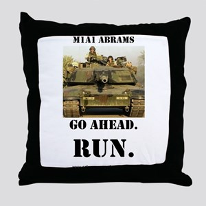 M1A1 Abrams Throw Pillow