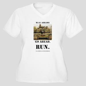 M1A1 Abrams Women's Plus Size V-Neck T-Shirt