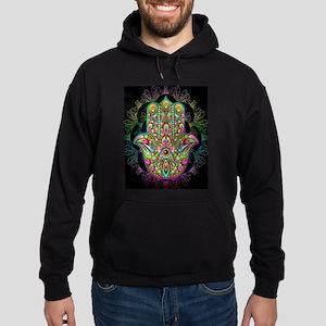 Hamsa Hand Amulet Psychedelic Hoodie (dark)
