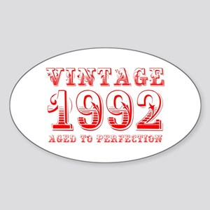 VINTAGE 1992 aged to perfection-red 400 Sticker