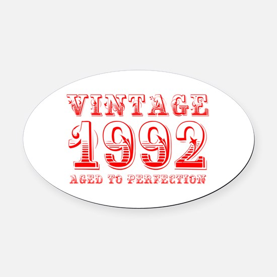 VINTAGE 1992 aged to perfection-red 400 Oval Car M