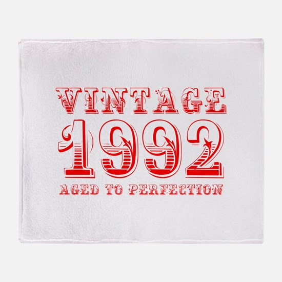 VINTAGE 1992 aged to perfection-red 400 Throw Blan