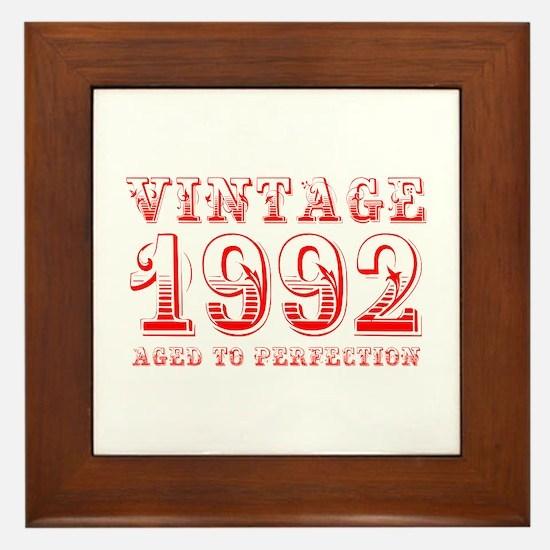 VINTAGE 1992 aged to perfection-red 400 Framed Til
