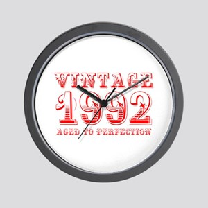 VINTAGE 1992 aged to perfection-red 400 Wall Clock