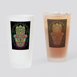 Hamsa Hand Amulet Psychedelic Drinking Glass