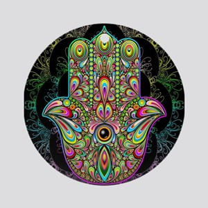 Hamsa Hand Amulet Psychedelic Ornament (Round)