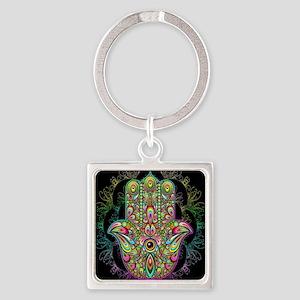 Hamsa Hand Amulet Psychedelic Keychains