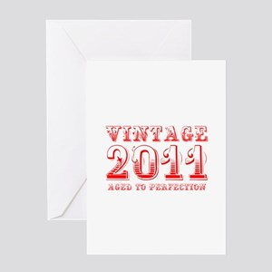 VINTAGE 2011 aged to perfection-red 400 Greeting C