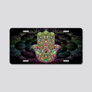Hamsa Hand Amulet Psychedel Aluminum License Plate