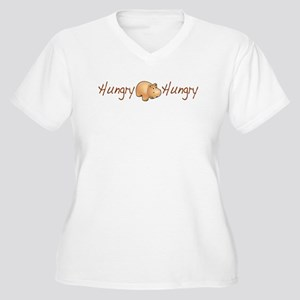 The Hungry Hippo Women's Plus Size V-Neck T-Shirt