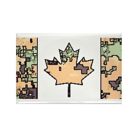 Canadian Flag Tan Digital Cam Woodland Cam Magnets