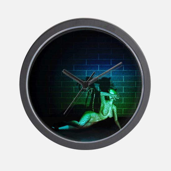Fetish Cat Woman Wall Clock