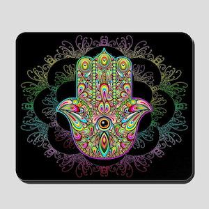 Hamsa Hand Amulet Psychedelic Mousepad