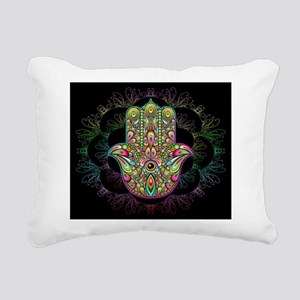 Hamsa Hand Amulet Psyche Rectangular Canvas Pillow