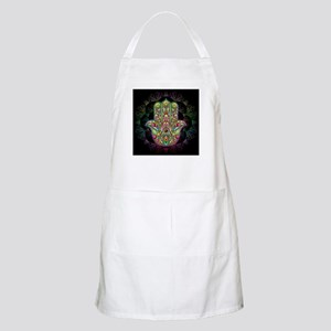 Hamsa Hand Amulet Psychedelic Apron