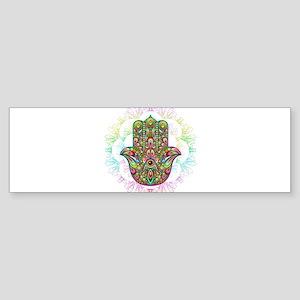 Hamsa Hand Amulet Psychedelic Bumper Sticker