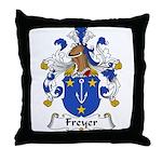 Freyer Family Crest Throw Pillow