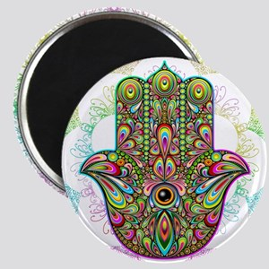 Hamsa Hand Amulet Psychedelic Magnets